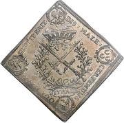 1 Thaler - Johann Georg IV (Ordre de la Jarretière) – revers
