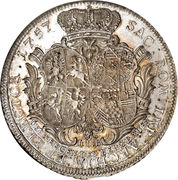 1 Thaler - Friedrich August I (Occupation prussienne) – revers