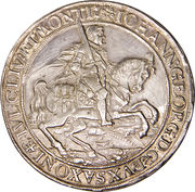 1½ taler Johann Georg – avers