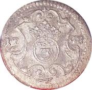 3 pfennig Friedrich August II – revers