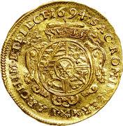 1 ducat Johann Georg IV – revers