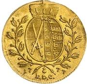 1 Ducat - Friedrich August III – revers