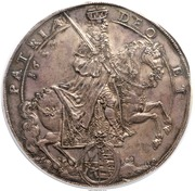 4 thaler Johann Georg II (Mort) – avers