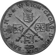 1/12 thaler Johann Georg IV. – avers