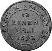 1/12 thaler Johann Georg IV. – revers