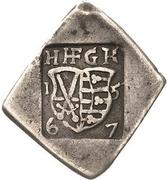 3 Groschen - Johann Friedrich II. (Klippe; Siege coinage) – avers