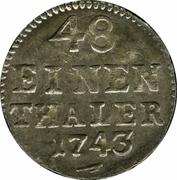 1/48 Thaler - Friedrich August II – revers