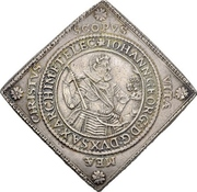 2 Thaler - Johann Georg I. and August (Klippe; Birth) – avers