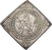2 Thaler - Johann Georg I. and August (Klippe; Birth) – avers