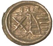 1 pfennig Friedrich III, Johan I, et Georg – avers