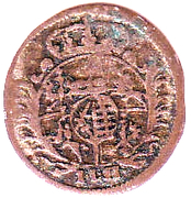 3 pfennig Friedrich August I – avers