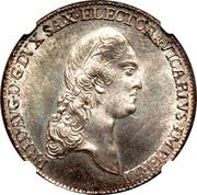 ⅔ thaler Frederick Auguste III – avers