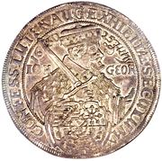 2 Thaler - Johann Georg I (Confession d'Augsbourg) – avers