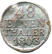 1/48 thaler Friedrich August III – revers