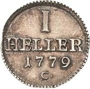 1 Heller - Friedrich August III – revers