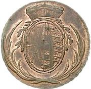 3 pfennig Friedrich August – avers
