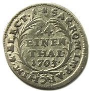 1/24 thaler Friedrich August I – revers