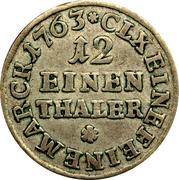 1/12 Thaler - Friedrich Christian (Doppelgroschen) – revers