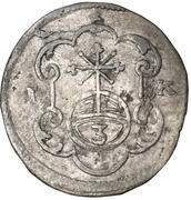 1 Dreier - Johann Georg III – revers