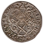Zinsgroschen - Friedrich III, Johan I, and Georg – avers