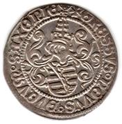 Zinsgroschen - Friedrich III, Johan I, and Georg – revers