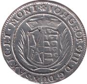 1/24 thaler Johann Georg III – avers