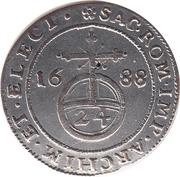 1/24 thaler Johann Georg III – revers
