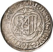½ Schwertgroschen - Ernst, Albrecht and Wilhelm III. – revers