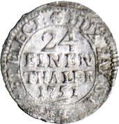 1/24 thaler  Frederick Auguste II – revers
