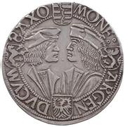 1 guldengroschen Friedrich III, Johann I et Georg – revers
