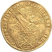 10 ducat Johan Georg (Centennaire de la confession de Augsbourg) – avers