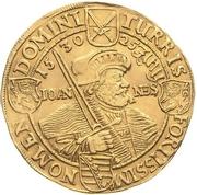 10 ducat Johan Georg (Centennaire de la confession de Augsbourg) – revers