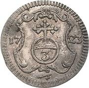 3 pfennig Friedrich August I – revers