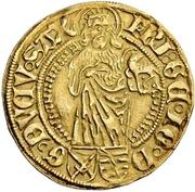 1 Goldgulden - Friedrich III., Georg and Johann – avers