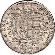 1 Taler - Friedrich August III – revers