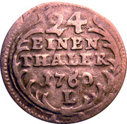 1/24 thaler Friedrich August II – revers