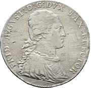 ⅔ Thaler - Friedrich August III – avers