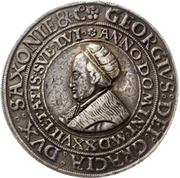1 Guldengroschen - Georg the Bearded – avers