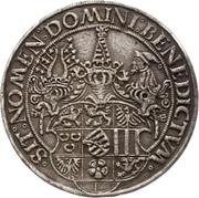 1 Guldengroschen - Georg the Bearded – revers