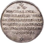 ¼ Thaler - Johann Georg III. (Death) – avers