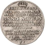 ⅙ Thaler - Friedrich August I. (Death) – avers