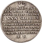 ⅓ Thaler - Friedrich August I. (Death) – avers