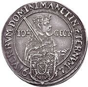 1/4 Thaler - Johann Georg I (réforme protestante) – avers