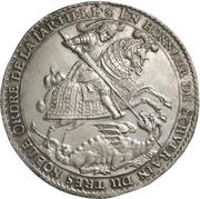 1 thaler Johann Georg II. – avers