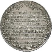 1 thaler Johann Georg II. – revers