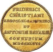 1 Ducat - Friedrich August II. (Marriage) – avers
