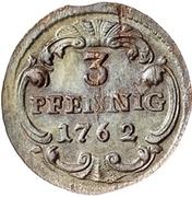 1 Dreier - Friedrich August II. – revers