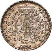 ⅙ Thaler - Friedrich August III. – revers
