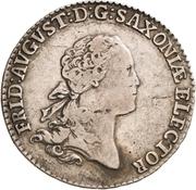 ⅓ Thaler - Friedrich August III. – avers