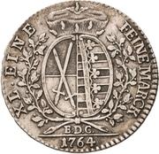 ⅓ Thaler - Friedrich August III. – revers